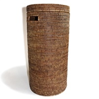 Tall Round Hamper w/ Cut Out Handle on the Side-1