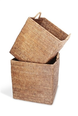 Square Basket w/ Loop Handles - Med-1