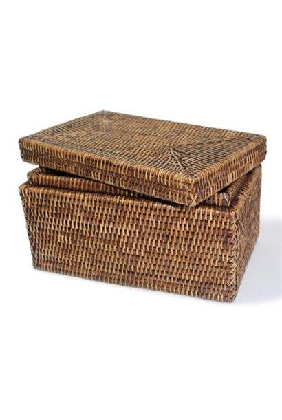 Rectangular Storage Basket with Lid