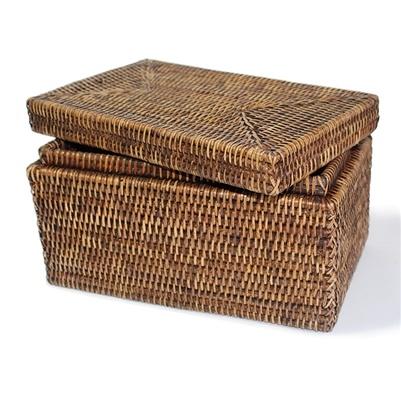 Rectangular Storage Basket with Lid-1