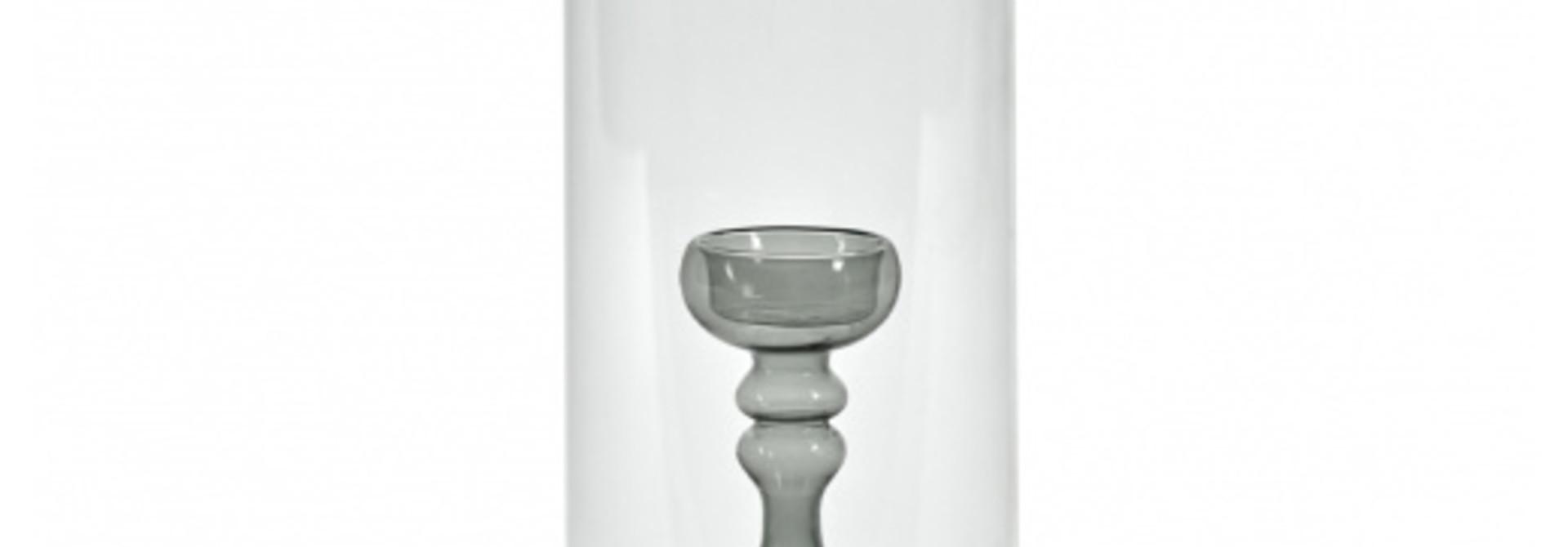 "Hurricane Vase - Grey Interior - 11.5"""