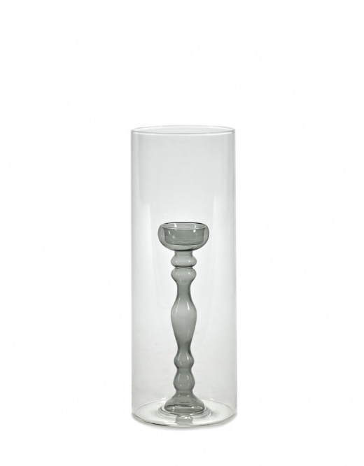 "Hurricane Vase - Grey Interior - 11.5""-1"