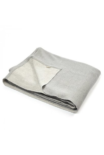 "Coverlet - Shetland - Grey 52 x 98"""