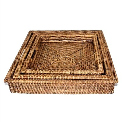 Square Tray with Handles-1