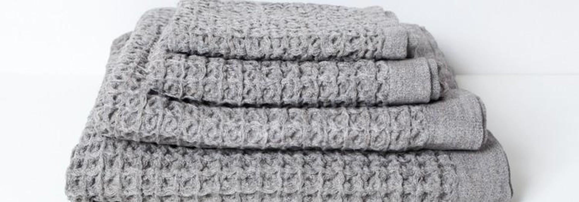Hand Towel - Lattice - Grey
