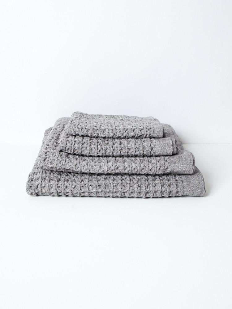 Hand Towel - Lattice - Grey-1