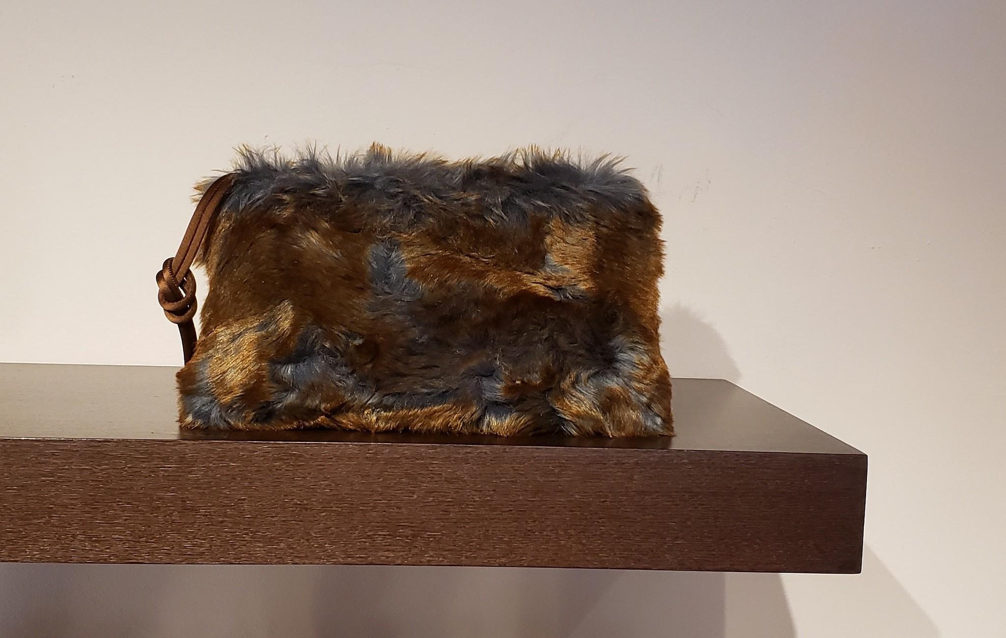 Clutch Bag- Fake Fur-1