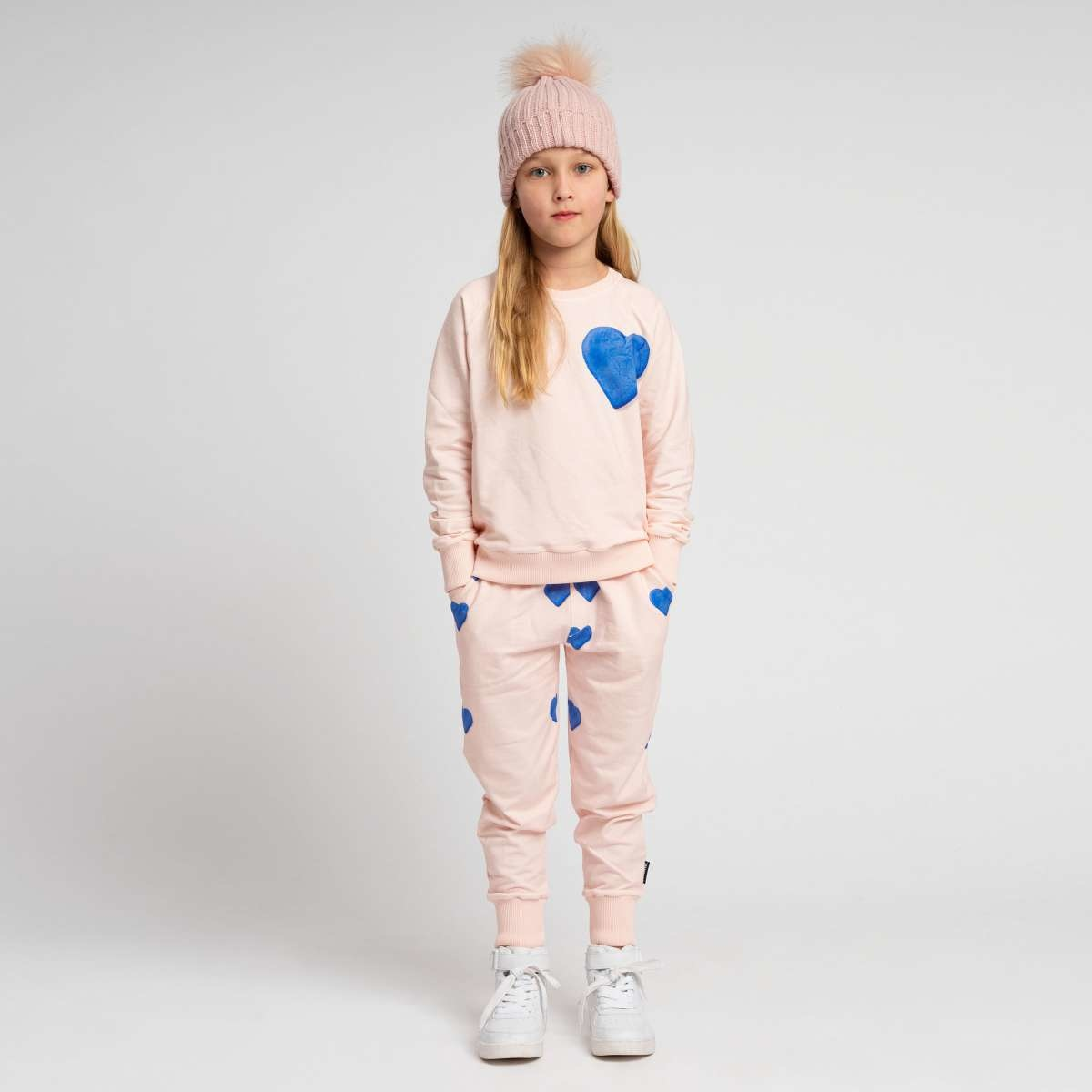 Sweatsuit - Heart -2 pc. - Sz 9/10-1