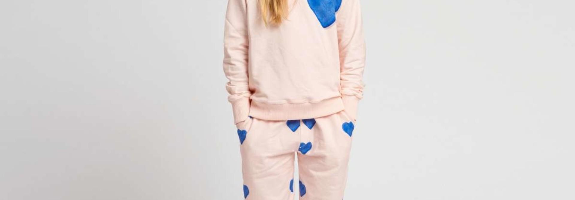 Sweatsuit - Heart -2 pc. - Sz 7/8