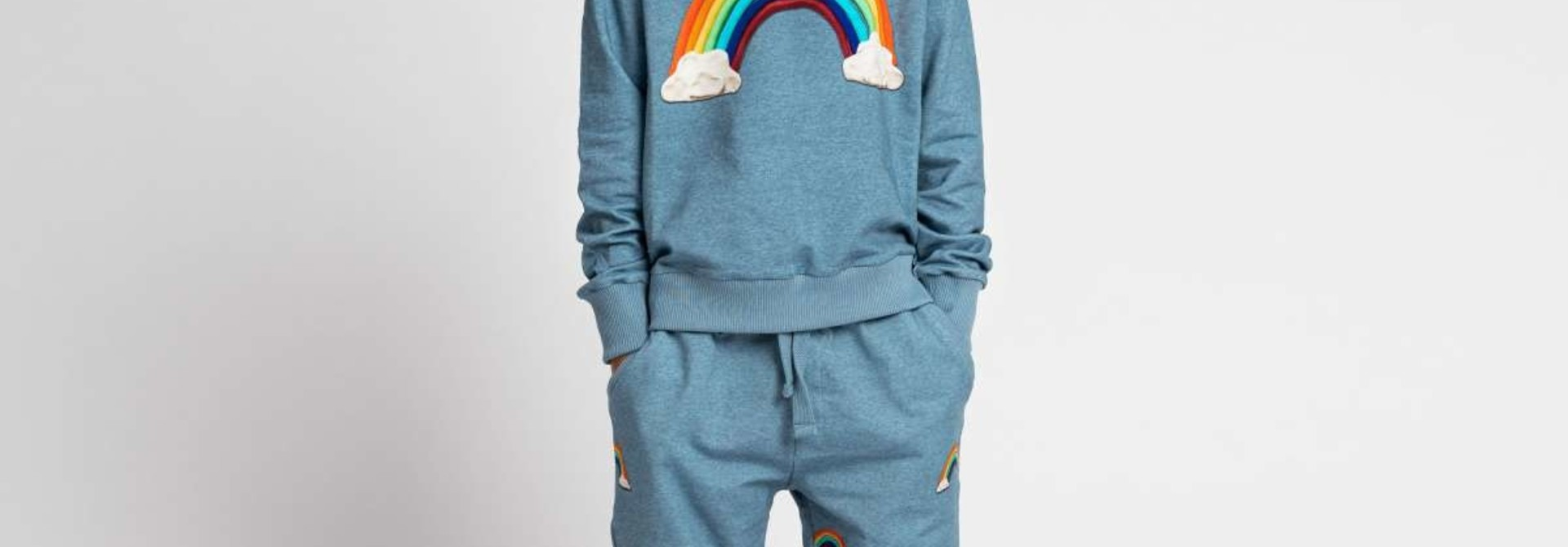 Sweatsuit - Rainbow - 2pc. - Sz 9/10 Yr