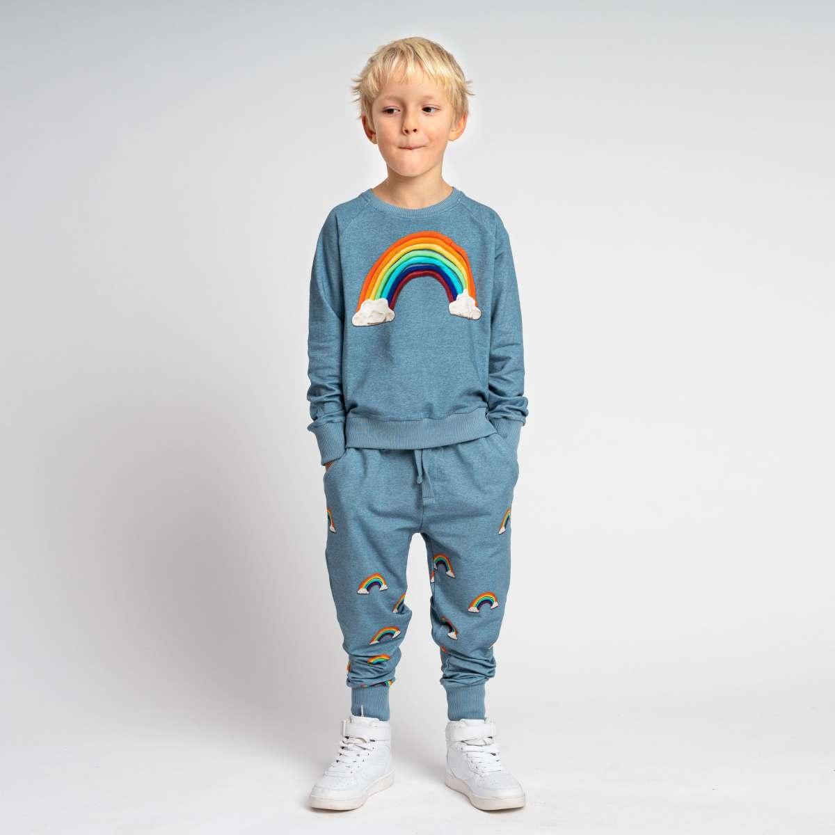 Sweatsuit - Rainbow - 2pc. - Sz 11/12 Yr-1