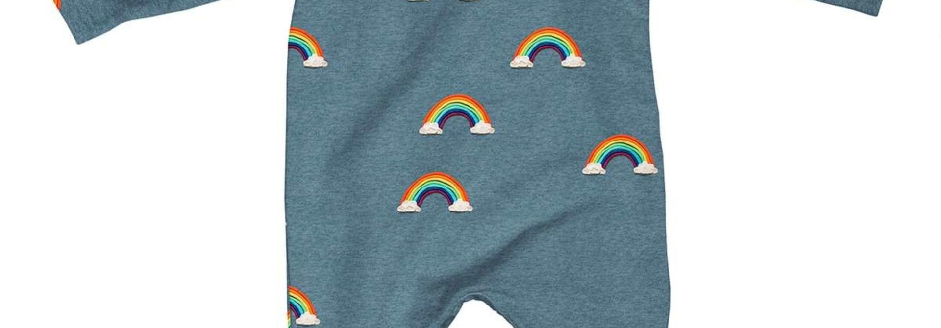 Jumpsuit - Rainbow - Sz 9/12  mo