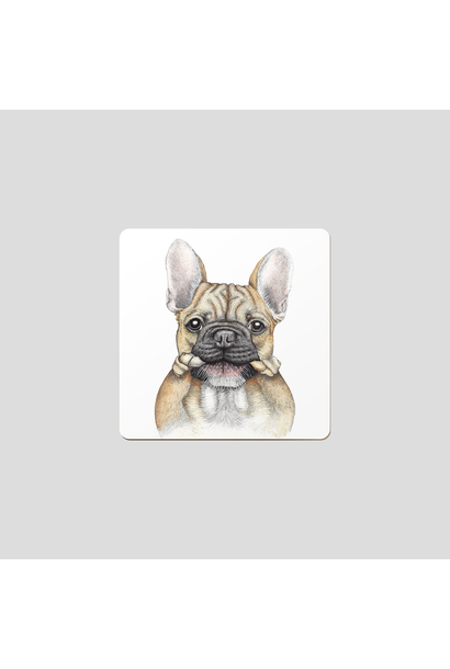Coasters - Bruce - Fr Bulldog - Set of 6