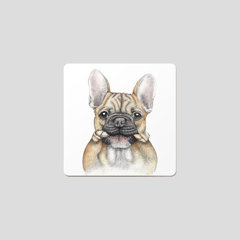 Coasters - Bruce - Fr Bulldog - Set of 6-1