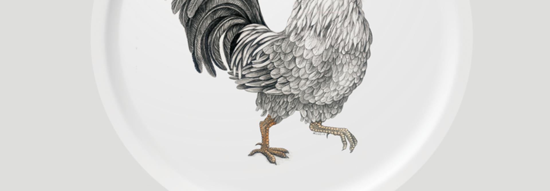 Circular Tray - Ralph - Rooster