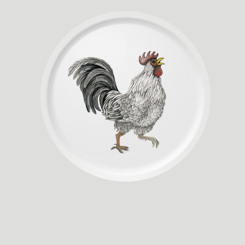 Circular Tray - Ralph - Rooster-1