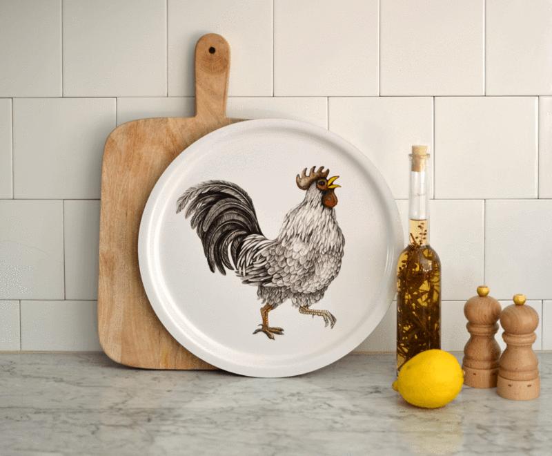 Circular Tray - Ralph - Rooster-2