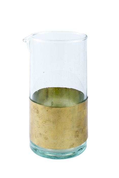 Clear Carafe with Gold Band-1