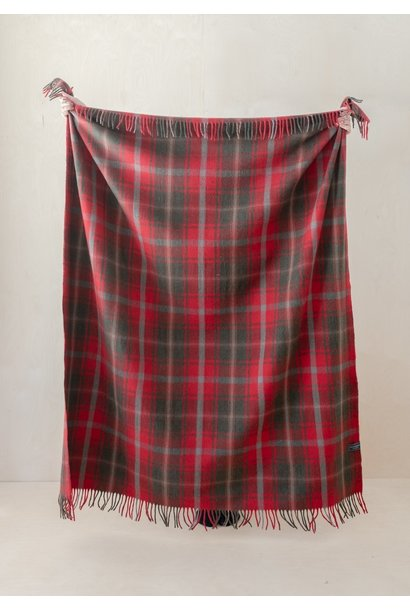 Recycled Wool Blanket - Dark Maple Tartan