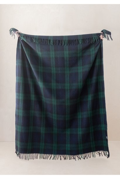 Recycled Wool Blanket - Black Watch Tartan