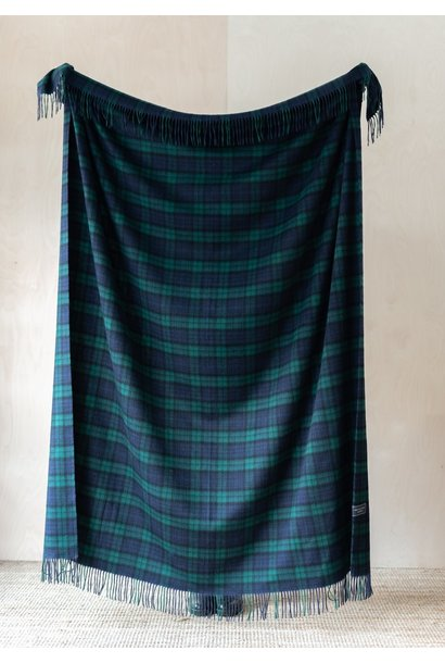 Cashmere Blanket - Black Watch Tartan