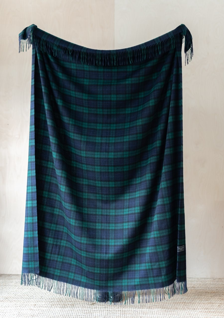 Cashmere Blanket - Black Watch Tartan-1