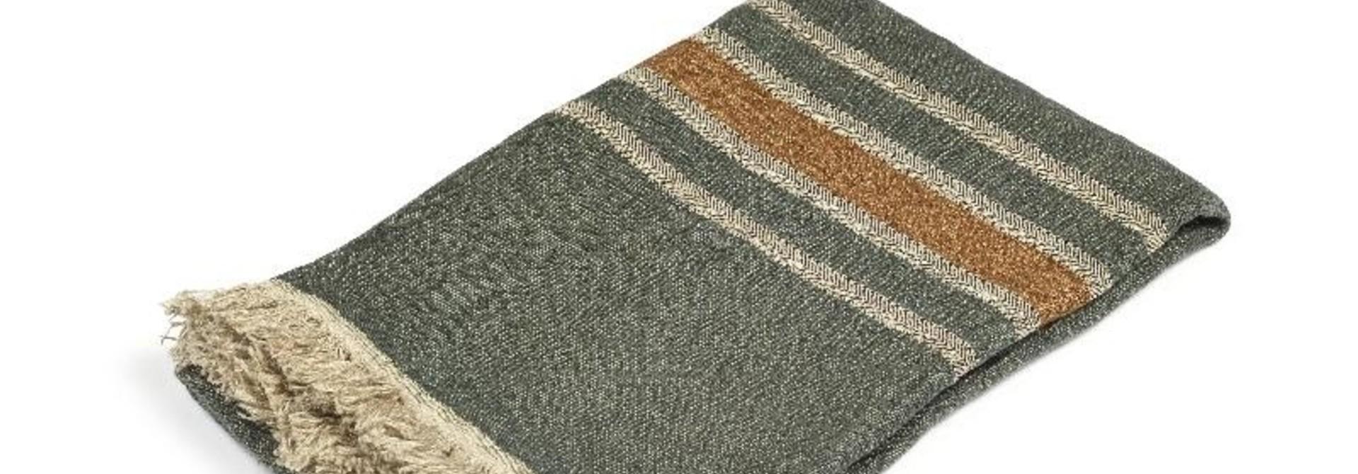 Guest Towel - Alouette - Green Stripe