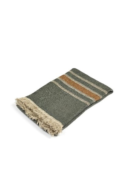 Guest Towel - Alouette - Green Stripe
