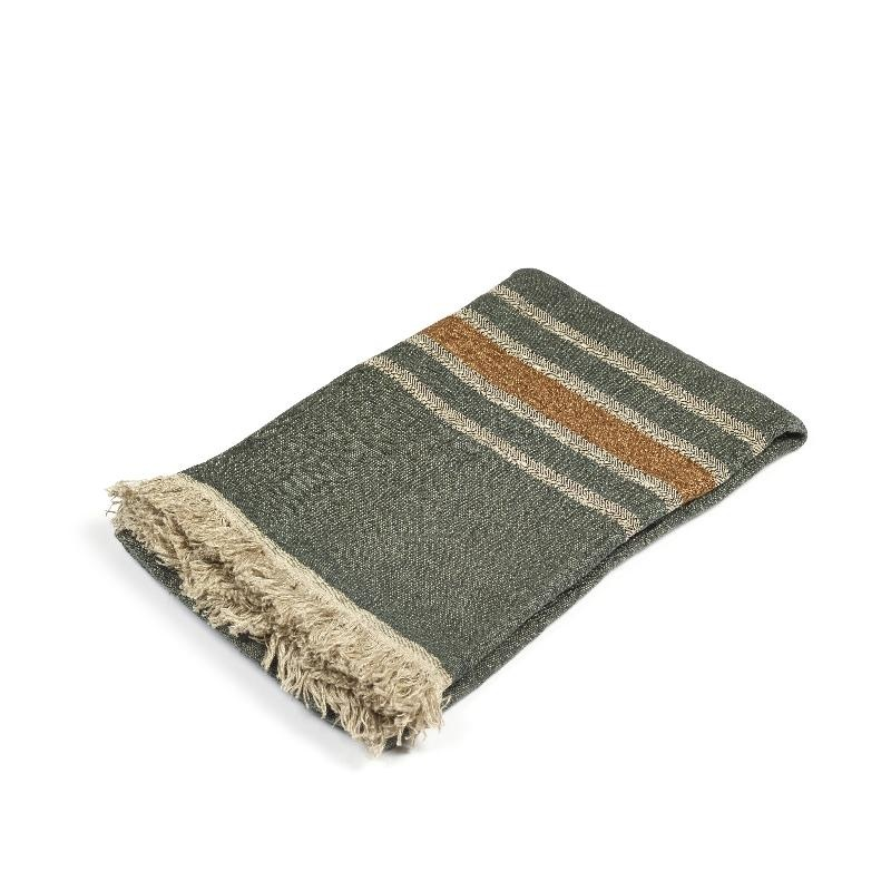 Guest Towel - Alouette - Green Stripe-1
