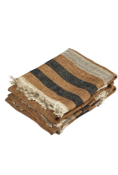 Guest Towel - Nairobi - Brown Stripe