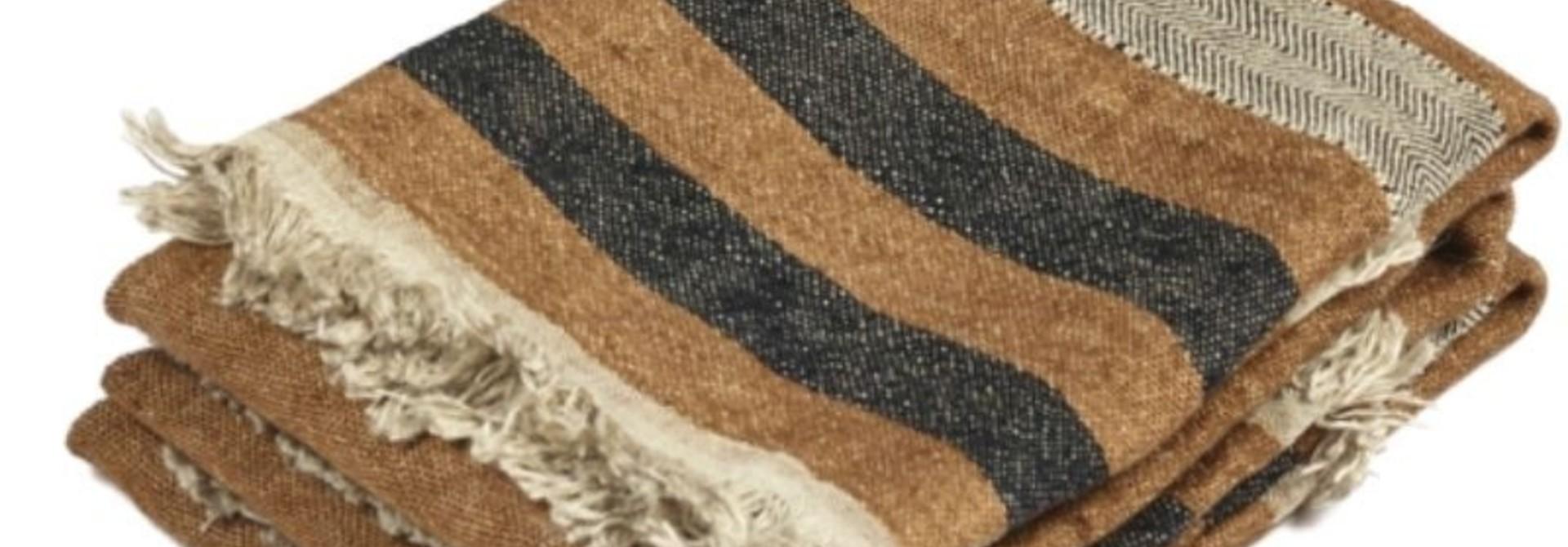 Bath Towel - Nairobi - Brown Stripe