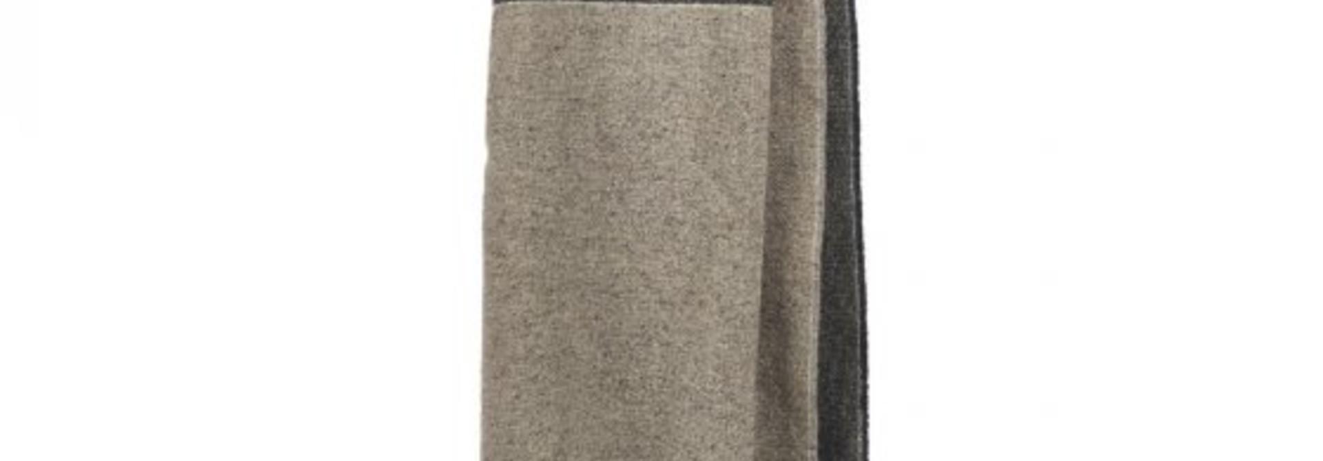 Throw - Lewis - Grey/Black Tweed