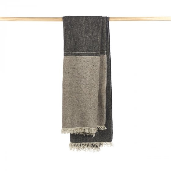 Throw - Lewis - Grey/Black Tweed-1