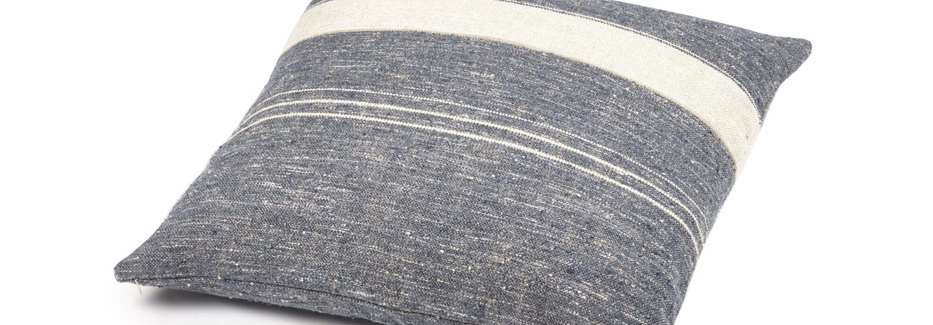 Cushion Cover - North Sea Stripe- Blue