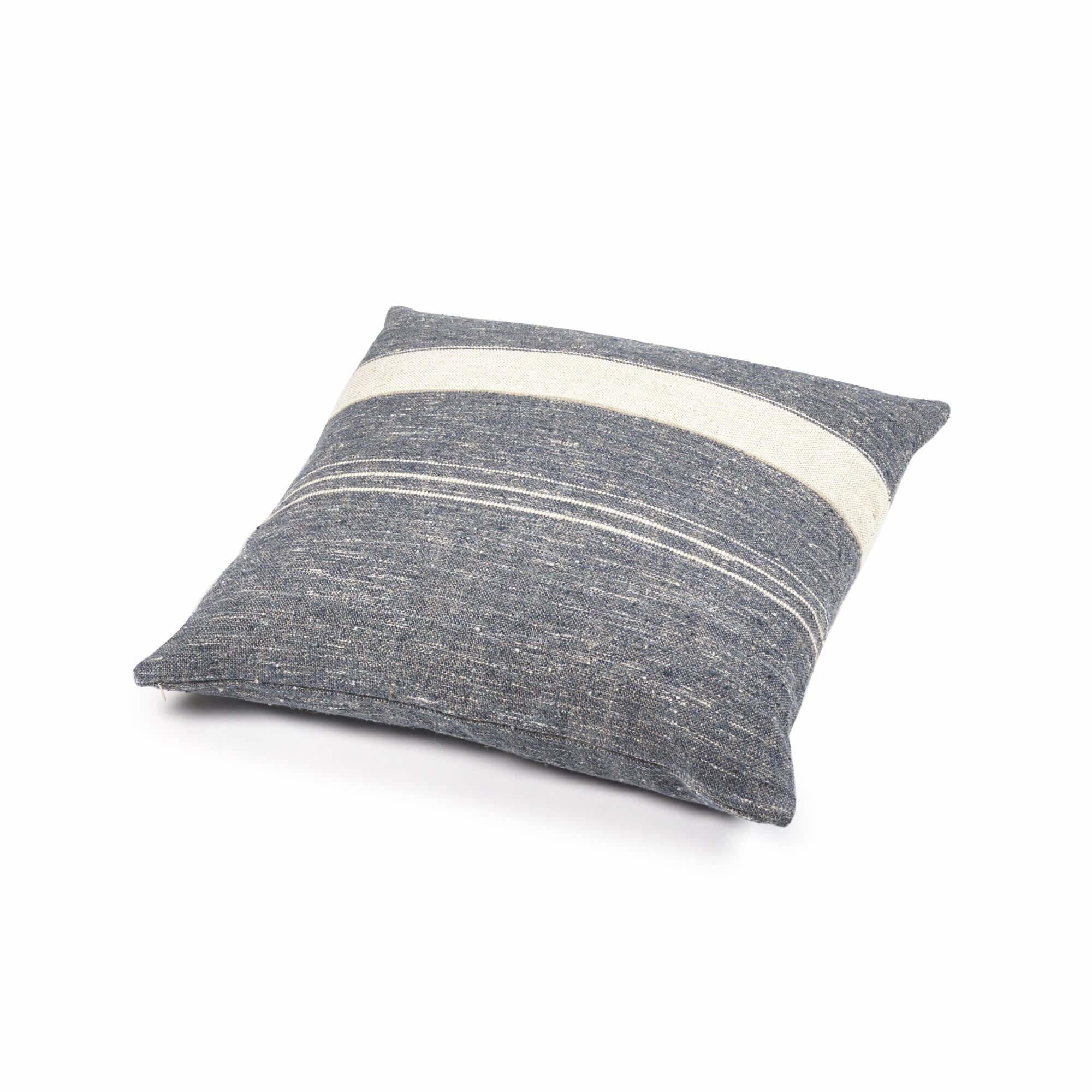 Cushion Cover - North Sea Stripe- Blue-1