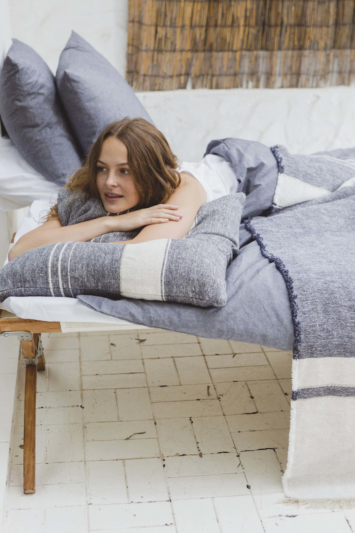 Cushion Cover - North Sea Stripe- Blue-2