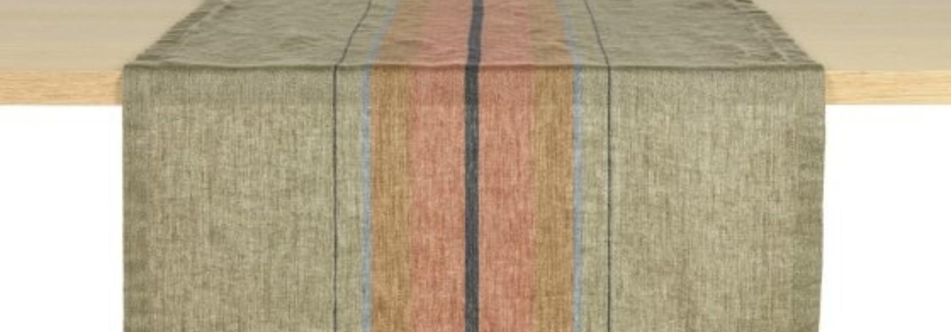 Table Runner - St. Jacob's - Olive Stripe