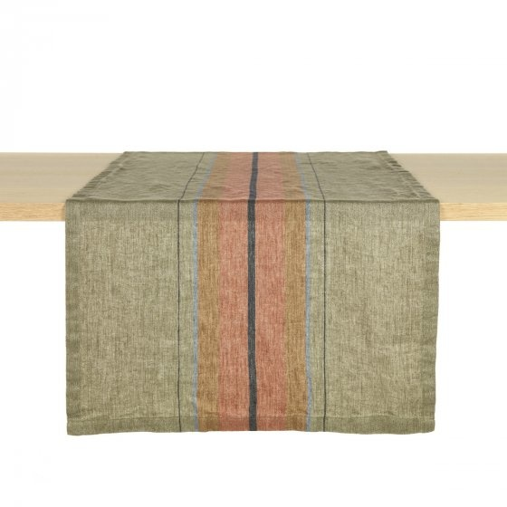 Table Runner - St. Jacob's - Olive Stripe-1