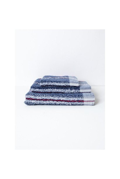Face cloth - 40 Stripe - Blue