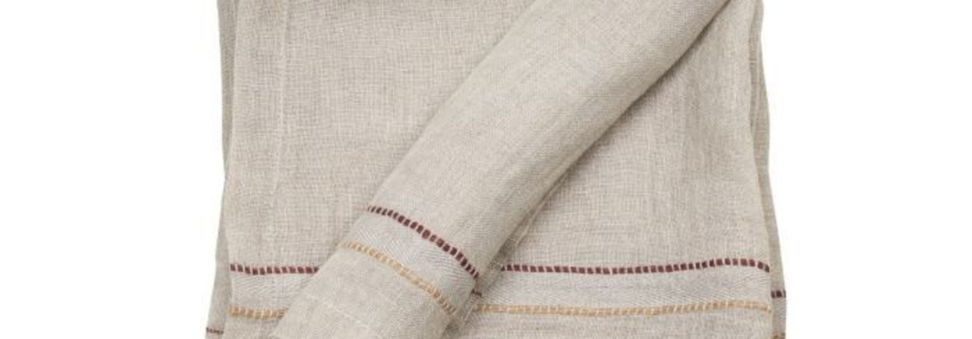 Napkin - Rya - Grey/Flax  - Set of 12+1