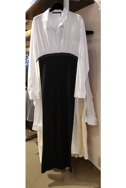 Dress - White/Blk - Sz. 40