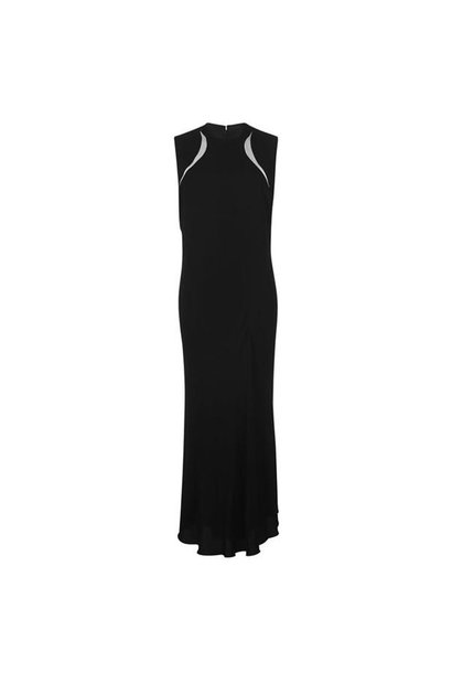 Dress - Blk w/wh. insert - Sz. 40