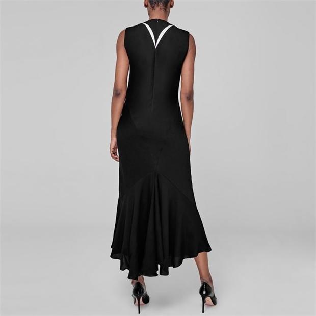Dress - Blk w/wh. insert - Sz. 40-2