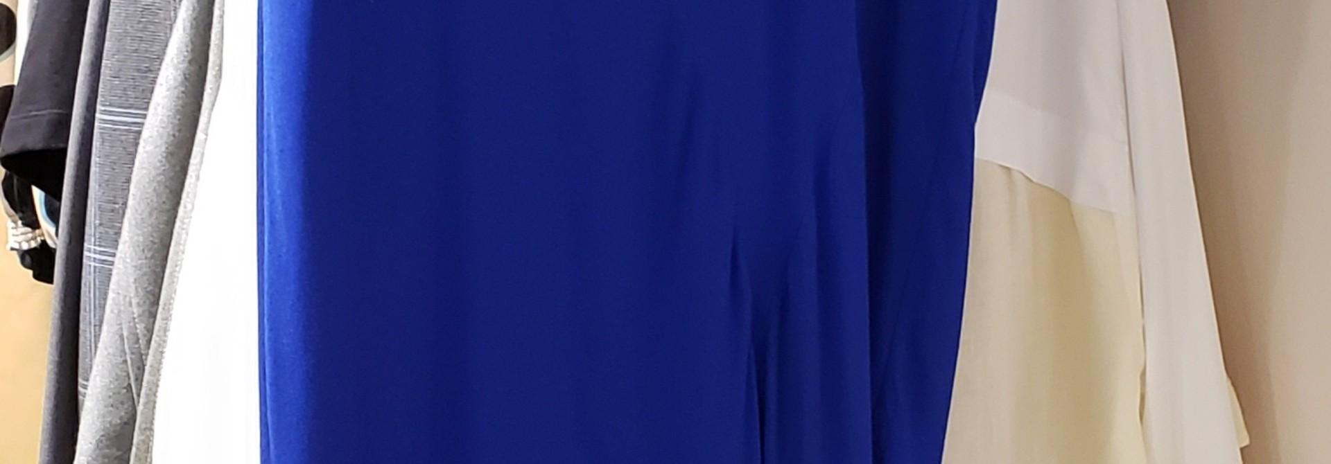 Dress - Blue w/bl. insert - Sz. 38