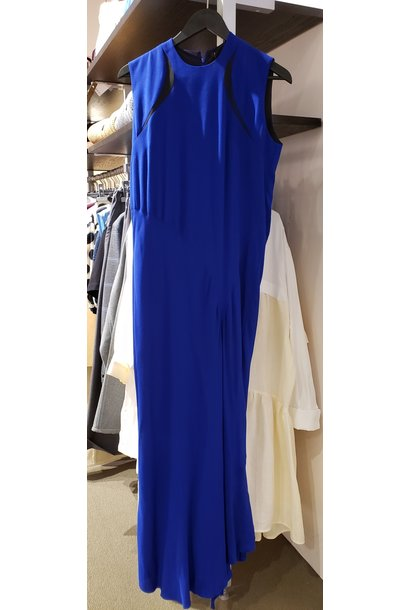Dress - Blue w/bl. insert - Sz. 38