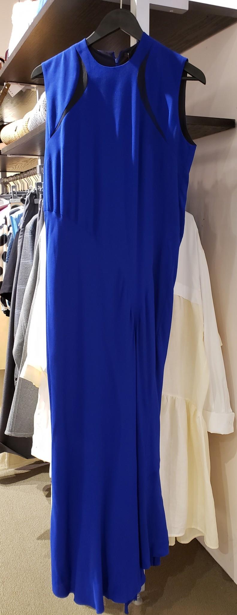 Dress - Blue w/bl. insert - Sz. 38-1