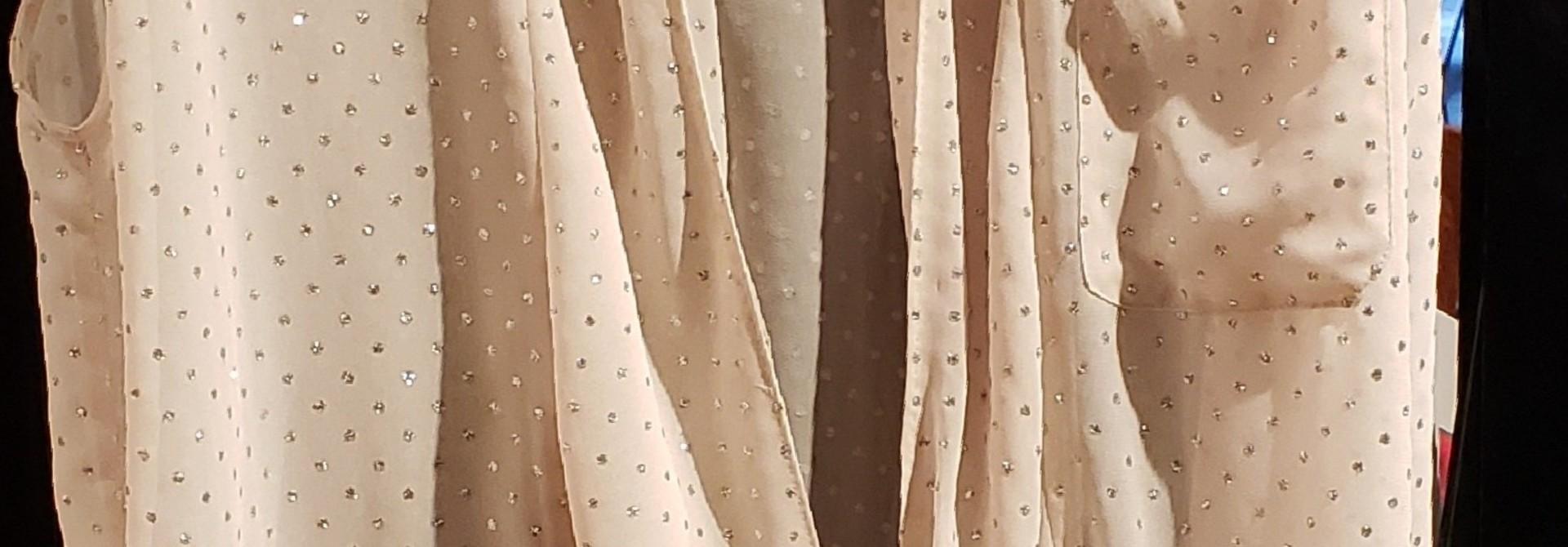 Wrap top - Pink w/sparkles - Sz. 36