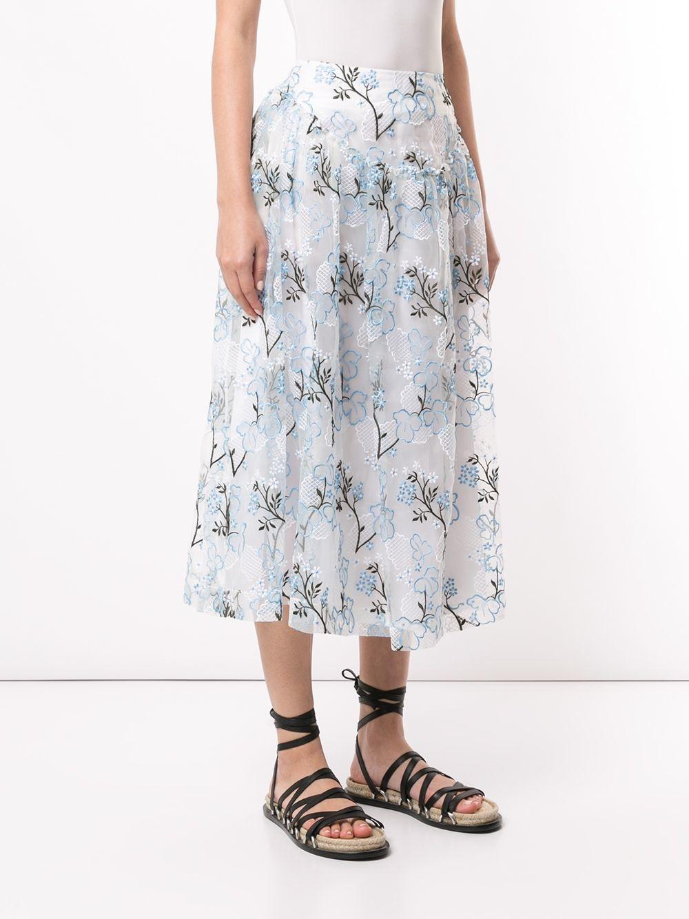 Skirt - Floral - Sz UK 8-3