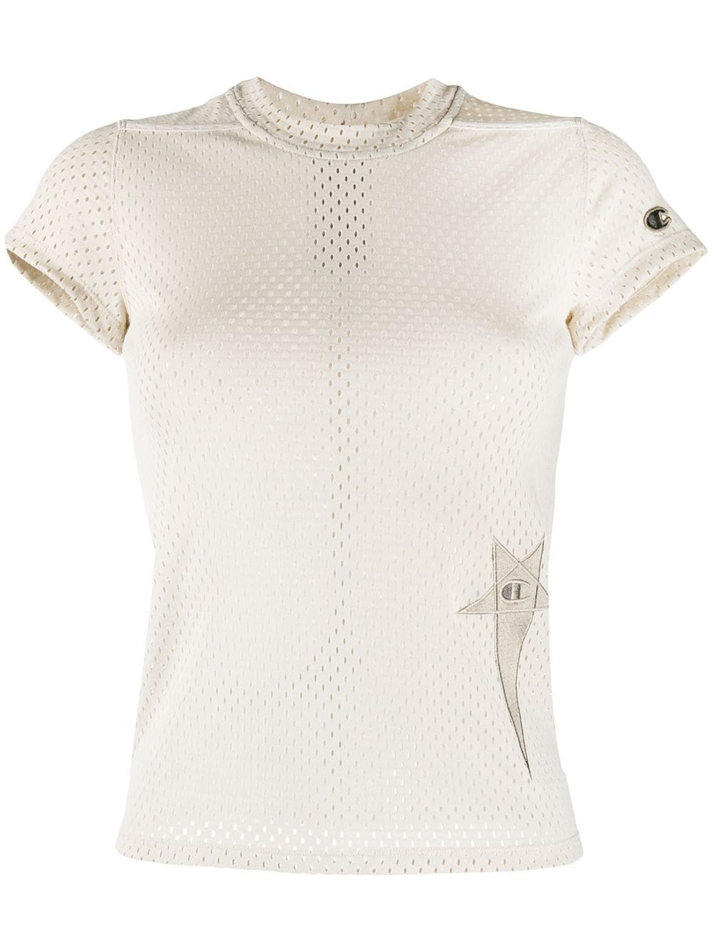T-shirt - Mesh - Pearl - S-1