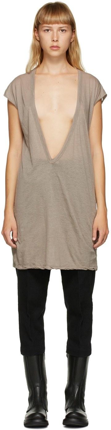 T-shirt - Cotton - Oyster - Sz 42-1